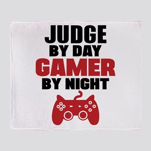 JUDGE BY DAY GAMER BY NIGHT Throw Blanket