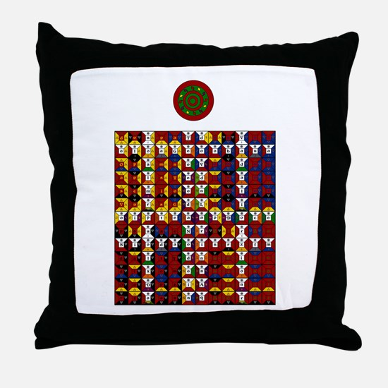 Enochian Fire Watchtower of t Throw Pillow