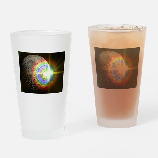 Sun Rise Over the Moon Drinking Glass