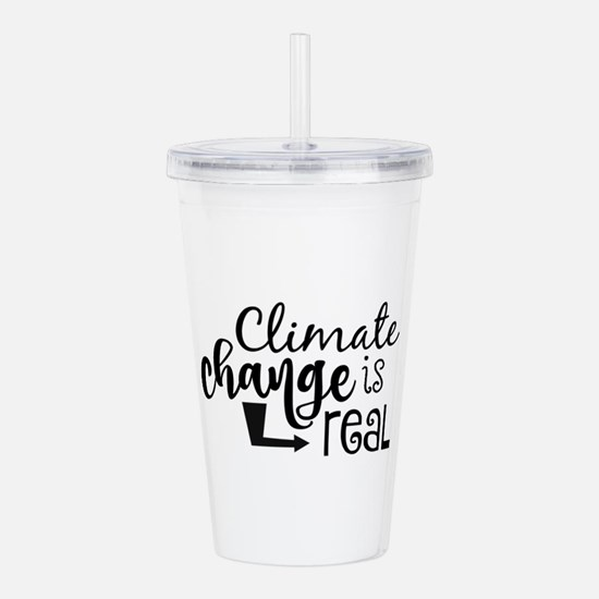 Climate Change is Real Acrylic Double-wall Tumbler