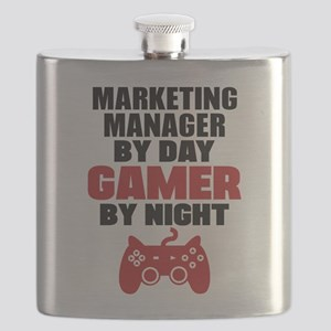 MARKETING MANAGER BY DAY GAMER BY NIGHT Flask