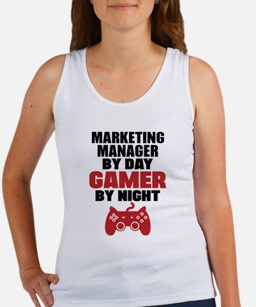 MARKETING MANAGER BY DAY GAMER BY NIGHT Tank Top