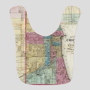 Vintage Map of Chicago (1869) Bib