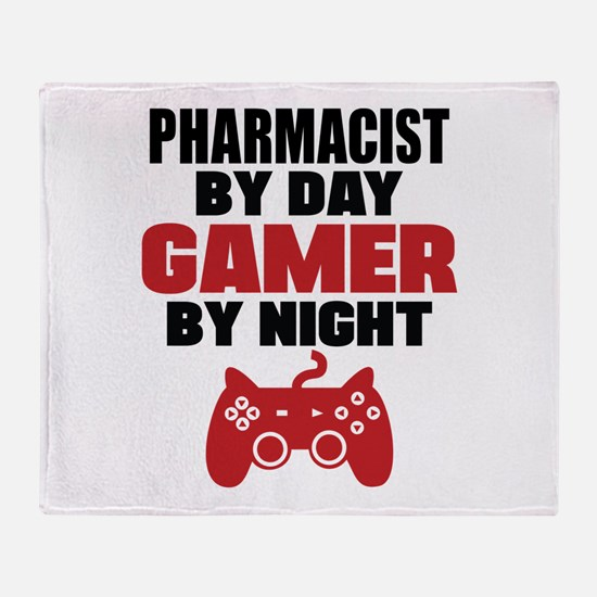 PHARMACIST BY DAY GAMER BY NIGHT Throw Blanket