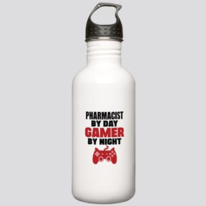 PHARMACIST BY DAY GAMER BY NIGHT Sports Water Bott