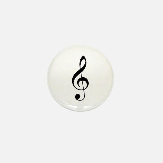 Treble Clef Mini Button