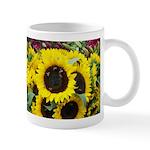 Bee Dance On A Sunflower Day Mugs