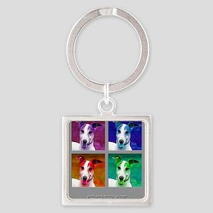 Greyhound Homage to Warhol Keychains