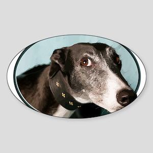 Guilty Greyhound in Oval Sticker