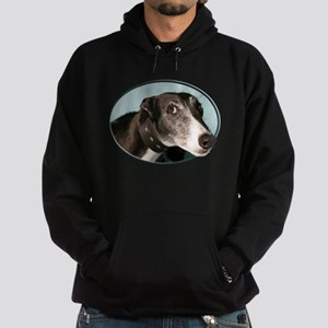 Guilty Greyhound in Oval Hoodie (dark)