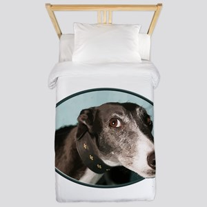 Guilty Greyhound in Oval Twin Duvet