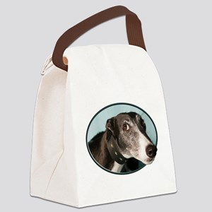Guilty Greyhound in Oval Canvas Lunch Bag