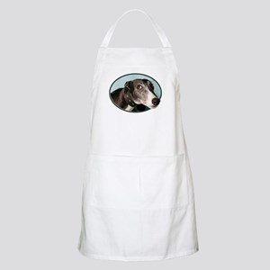 Guilty Greyhound in Oval Apron
