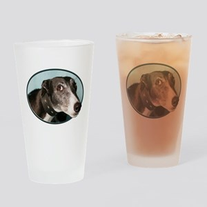 Guilty Greyhound in Oval Drinking Glass