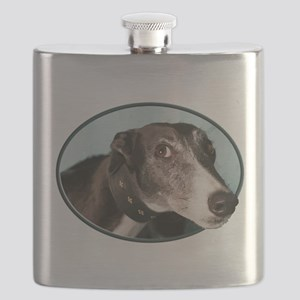 Guilty Greyhound in Oval Flask