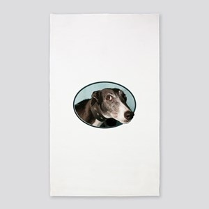 Guilty Greyhound in Oval Area Rug