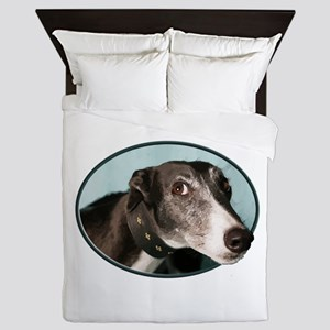 Guilty Greyhound in Oval Queen Duvet