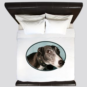 Guilty Greyhound in Oval King Duvet
