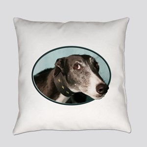 Guilty Greyhound in Oval Everyday Pillow