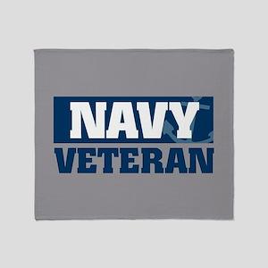 US Navy Veteran fb Throw Blanket