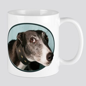 Guilty Greyhound in Oval Mugs