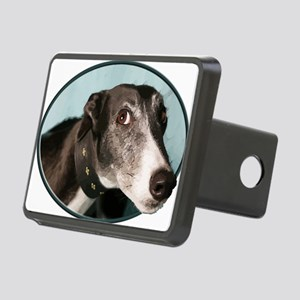 Guilty Greyhound in Oval Rectangular Hitch Cover