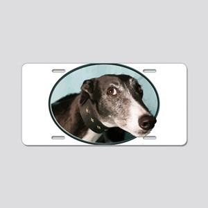 Guilty Greyhound in Oval Aluminum License Plate