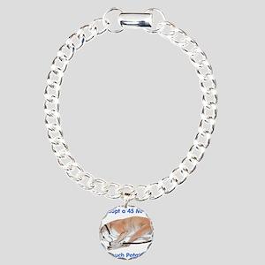 45 MPH Couch Potato Charm Bracelet, One Charm