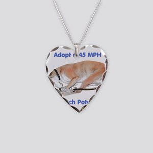 45 MPH Couch Potato Necklace Heart Charm
