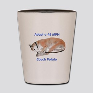 45 MPH Couch Potato Shot Glass
