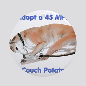 45 MPH Couch Potato Round Ornament