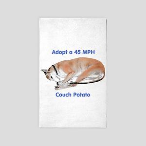 45 MPH Couch Potato Area Rug