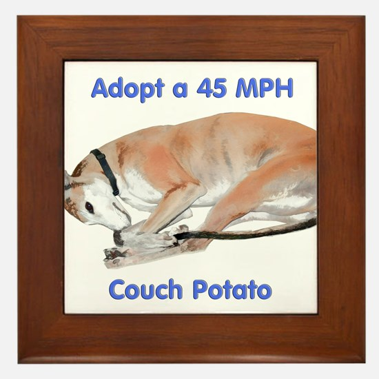 45 MPH Couch Potato Framed Tile
