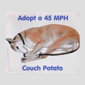 45 MPH Couch Potato Throw Blanket