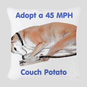 45 MPH Couch Potato Woven Throw Pillow