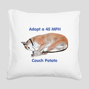 45 MPH Couch Potato Square Canvas Pillow