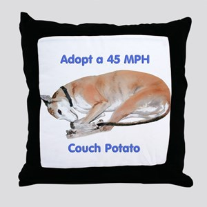 45 MPH Couch Potato Throw Pillow