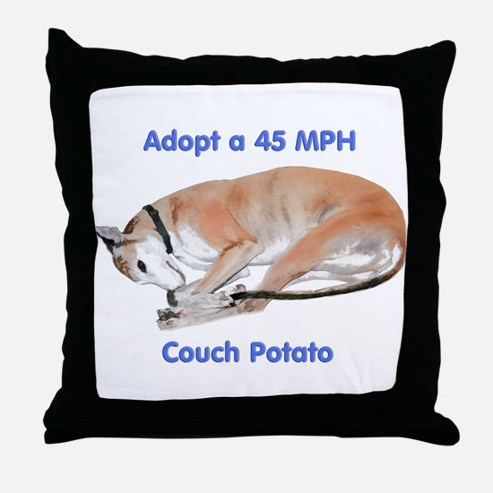 45 MPH Couch Potato Throw Pillow