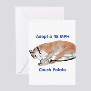 45 MPH Couch Potato Greeting Cards