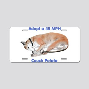 45 MPH Couch Potato Aluminum License Plate
