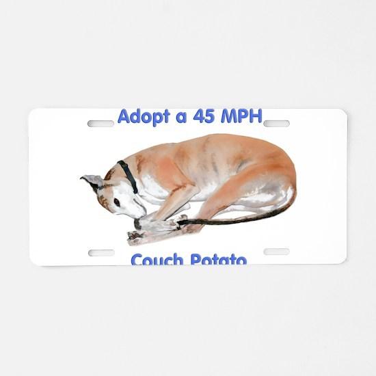 45 MPH Couch Potato Aluminum License Plate