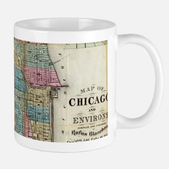 Vintage Map of Chicago (1869) Mugs