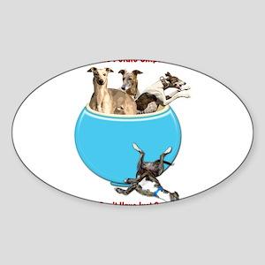 Greyhounds Like Potato Chips Sticker
