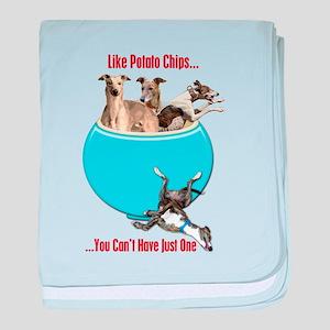 Greyhounds Like Potato Chips baby blanket