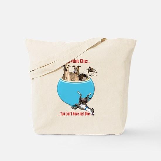 Greyhounds Like Potato Chips Tote Bag