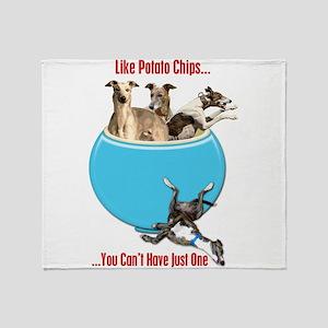 Greyhounds Like Potato Chips Throw Blanket