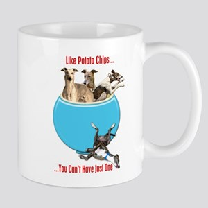 Greyhounds Like Potato Chips Mugs
