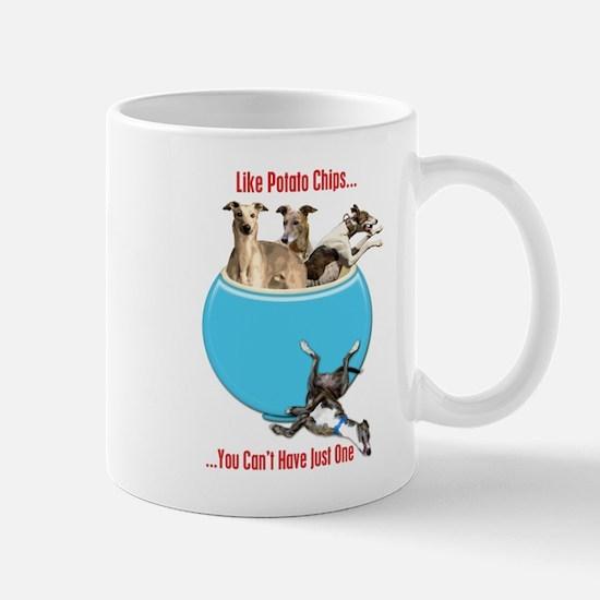 Greyhounds Like Potato Chips Mugs