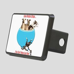 Greyhounds Like Potato Chi Rectangular Hitch Cover