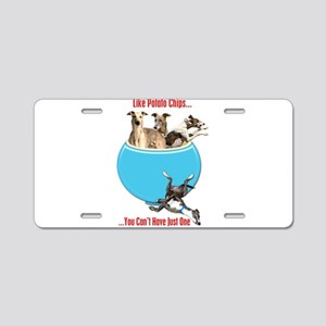 Greyhounds Like Potato Chip Aluminum License Plate